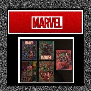 MARVEL Comic 1 subject 80 page notebooks (5) NWT